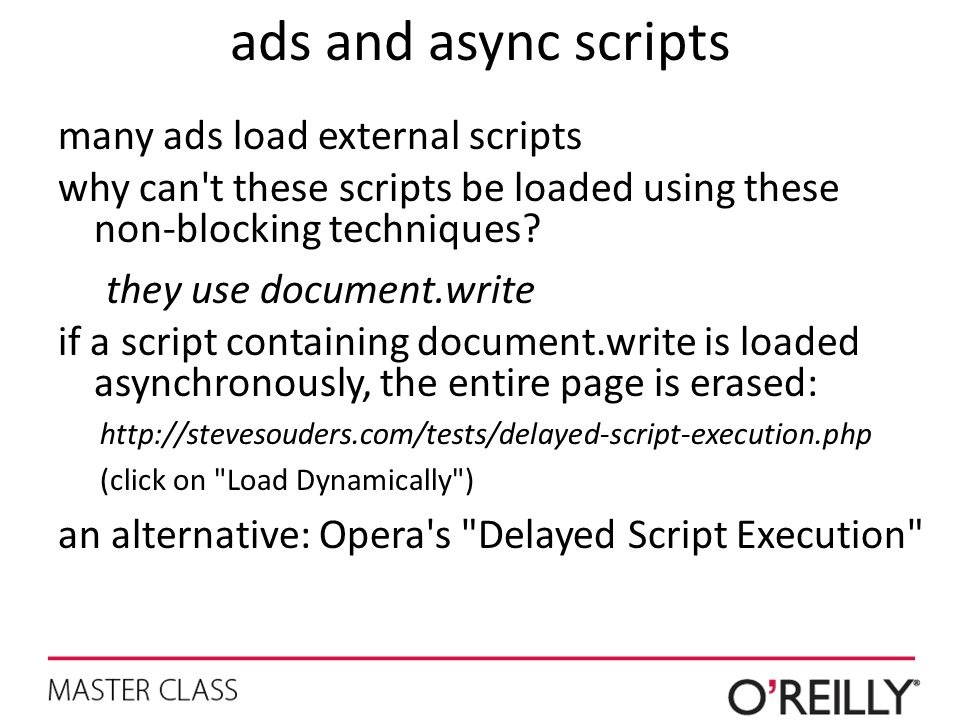 ads and async scripts many ads load external scripts
