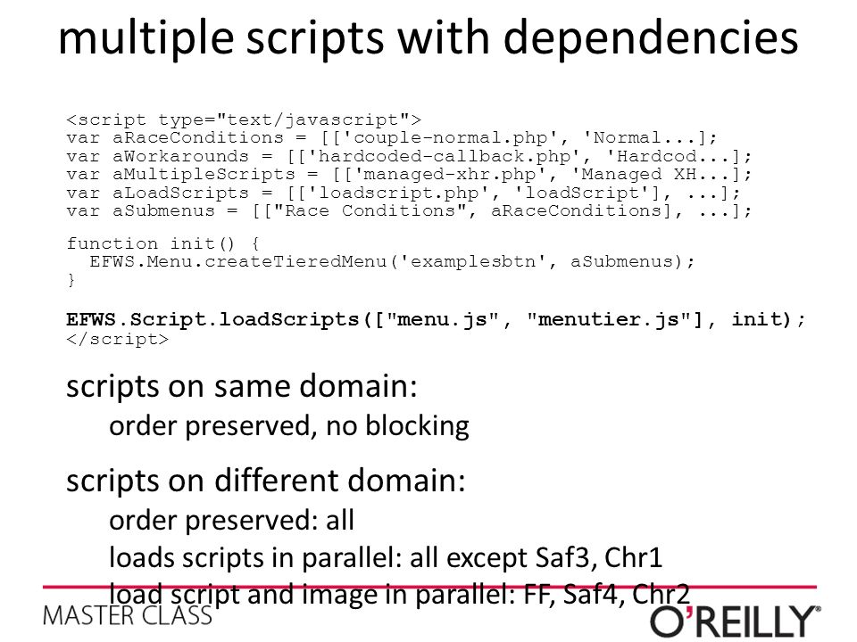 multiple scripts with dependencies
