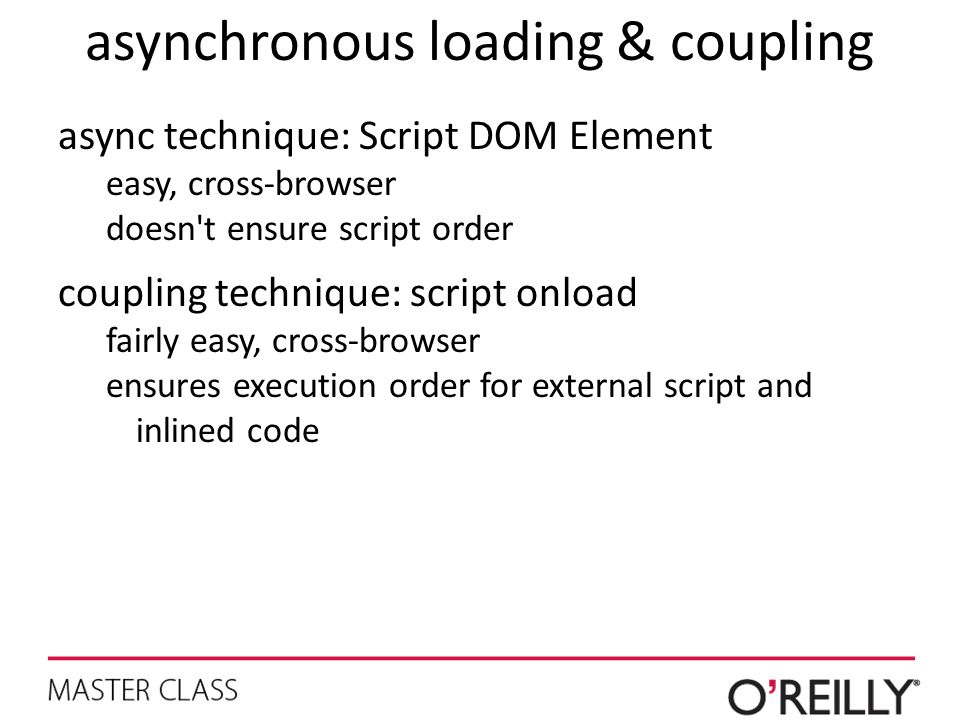 asynchronous loading & coupling