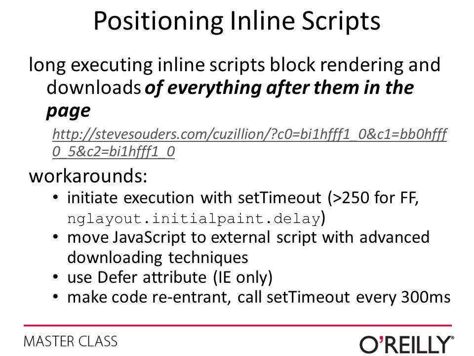 Positioning Inline Scripts