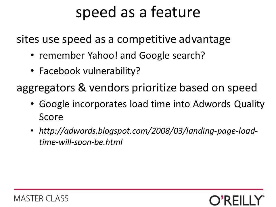 speed as a feature sites use speed as a competitive advantage