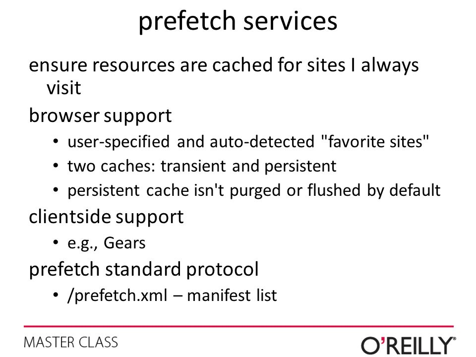 prefetch services ensure resources are cached for sites I always visit