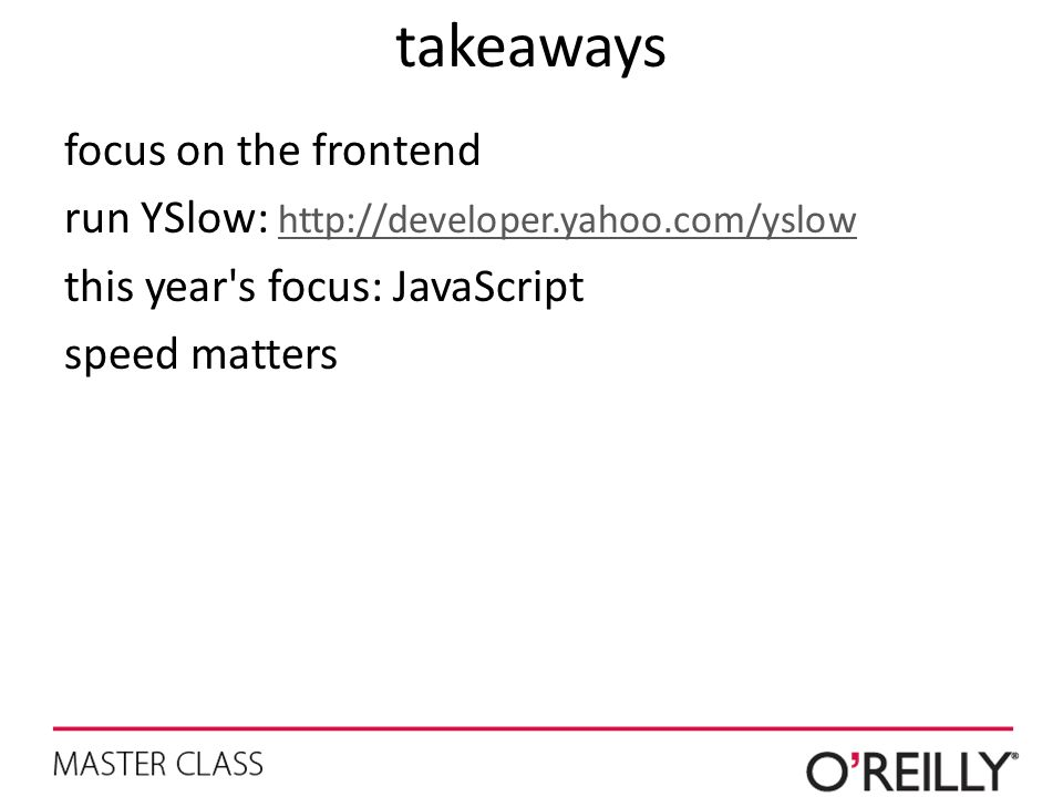 takeaways focus on the frontend