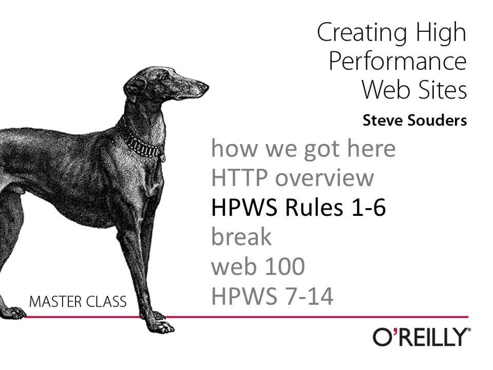how we got here HTTP overview HPWS Rules 1-6 break web 100 HPWS 7-14