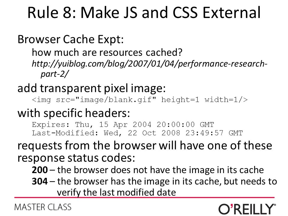 Rule 8: Make JS and CSS External