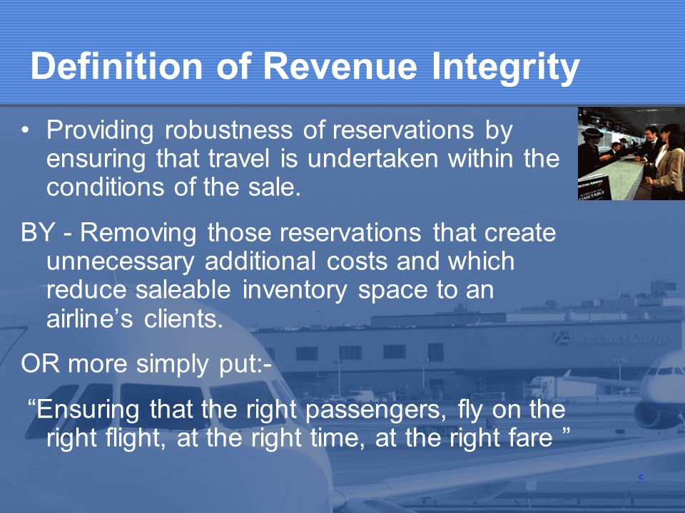 Definition of Revenue Integrity