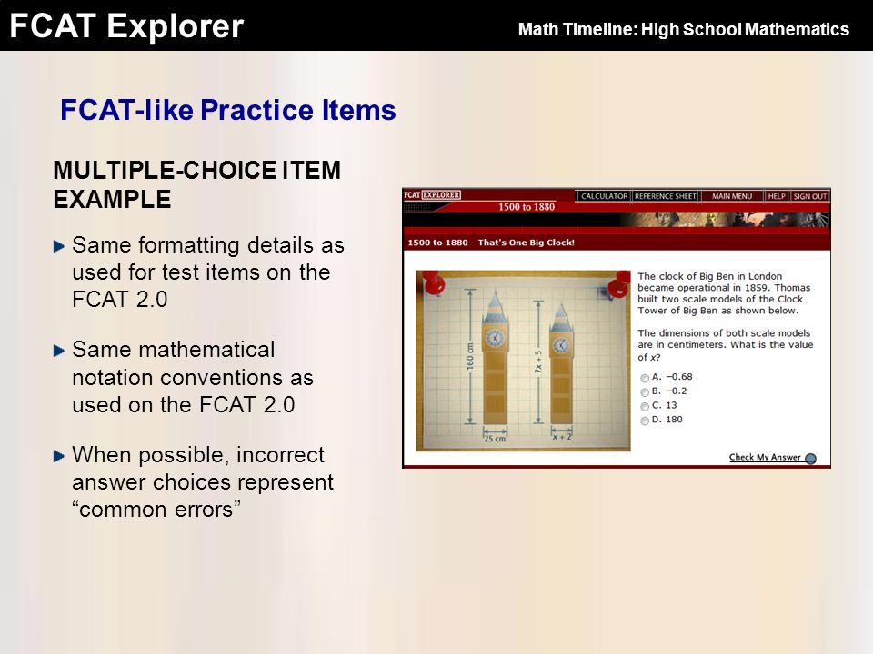Overview of the FCAT Explorer