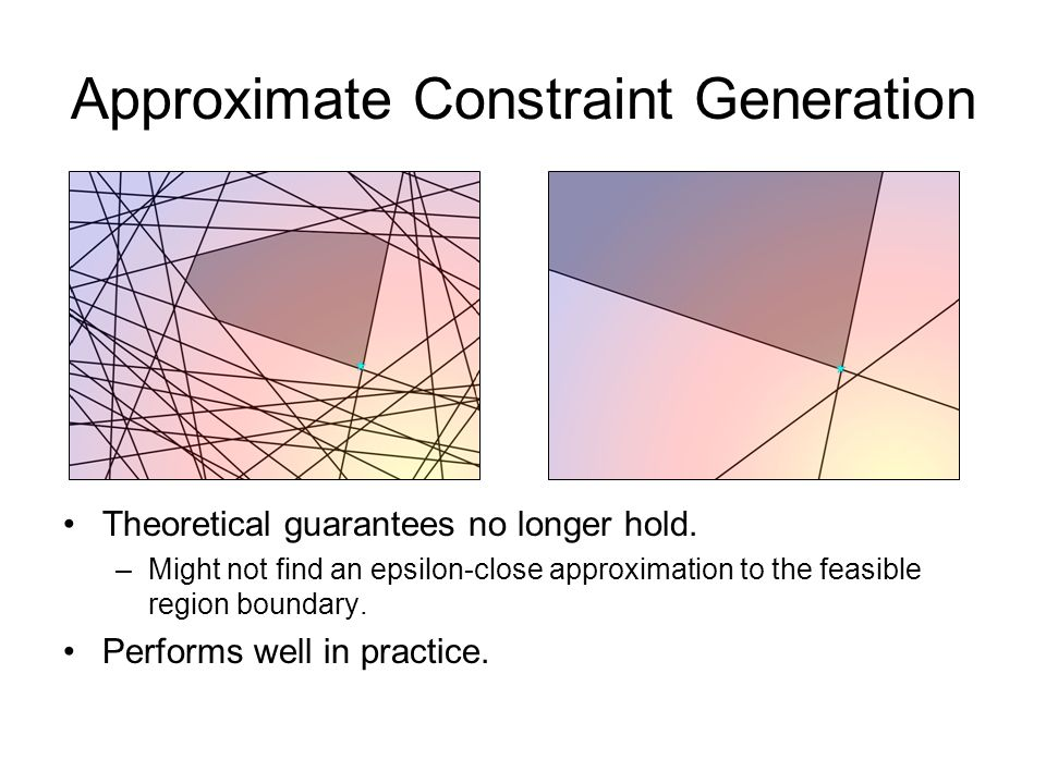 Approximate Constraint Generation