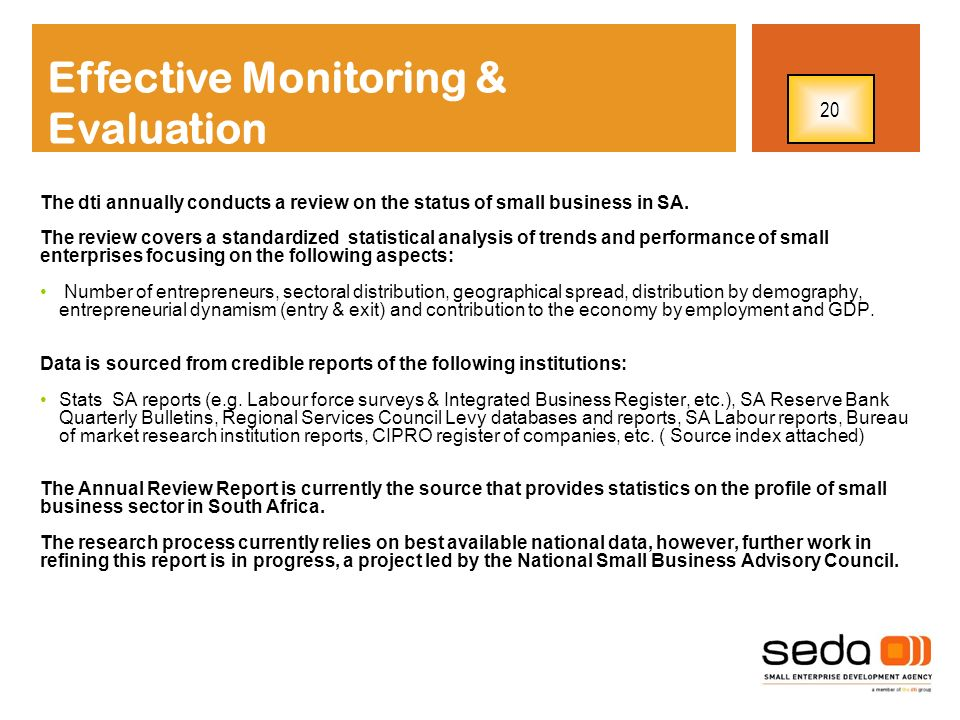 Effective Monitoring & Evaluation