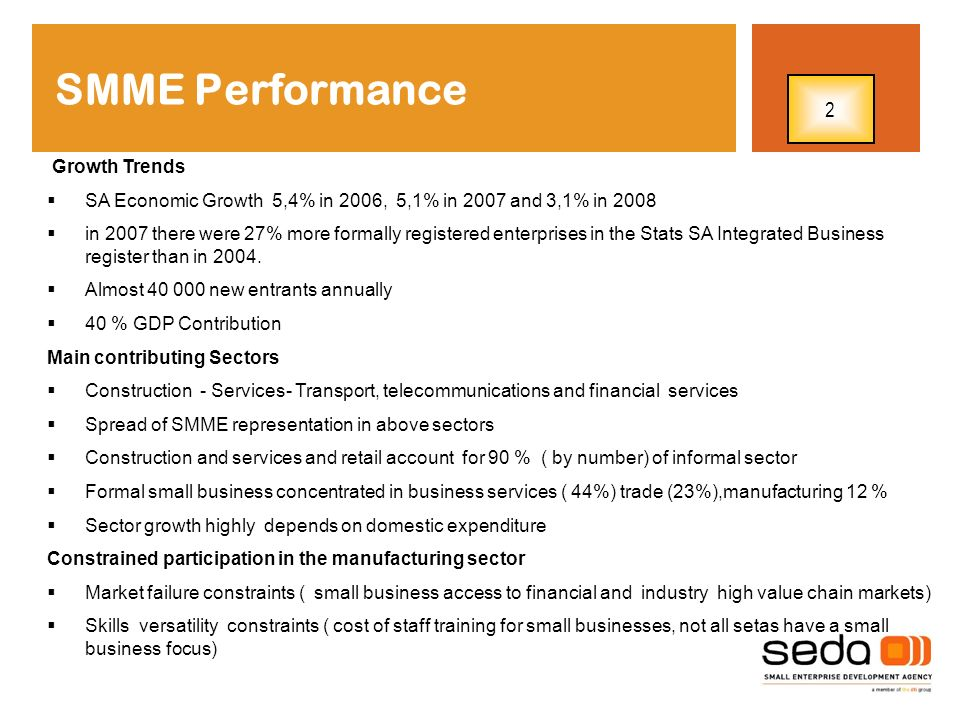 SMME Performance 2 Growth Trends