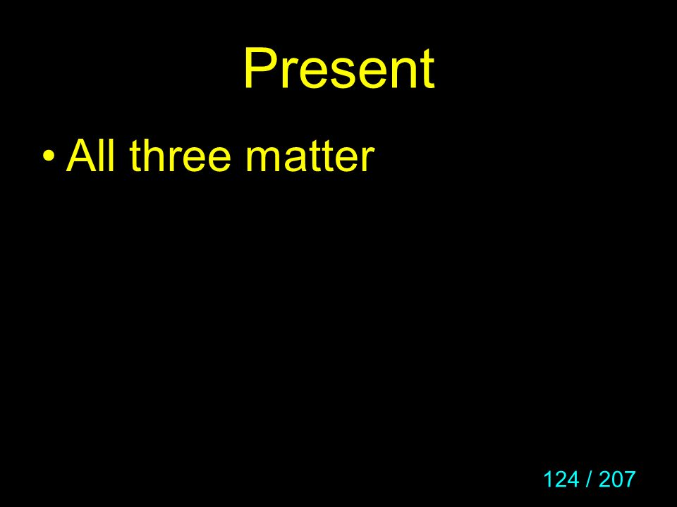 Present All three matter