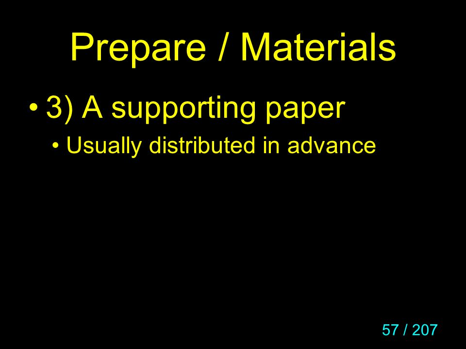 Prepare / Materials 3) A supporting paper