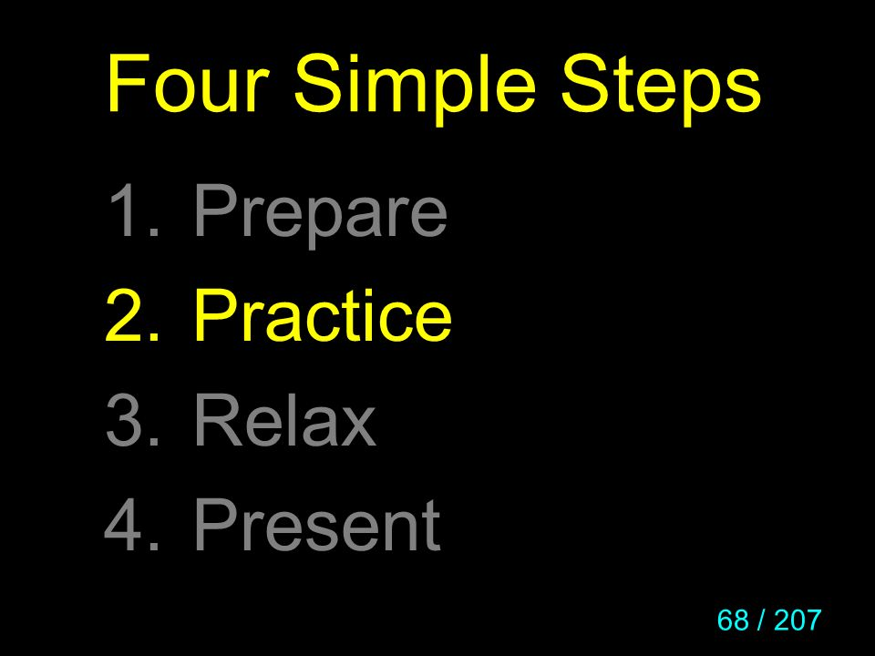 Four Simple Steps Prepare Practice Relax Present