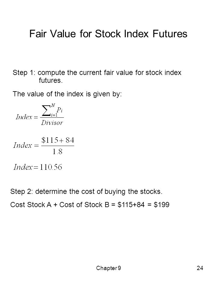 Fair Value for Stock Index Futures