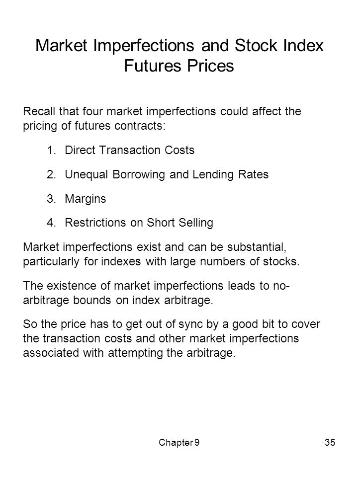 Market Imperfections and Stock Index Futures Prices