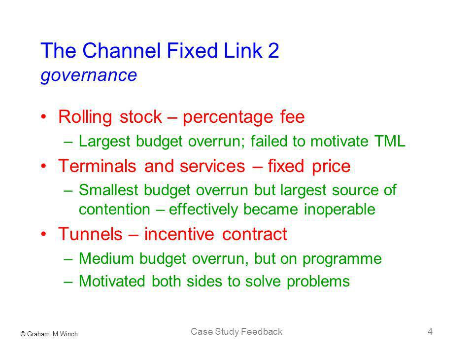The Channel Fixed Link 2 governance