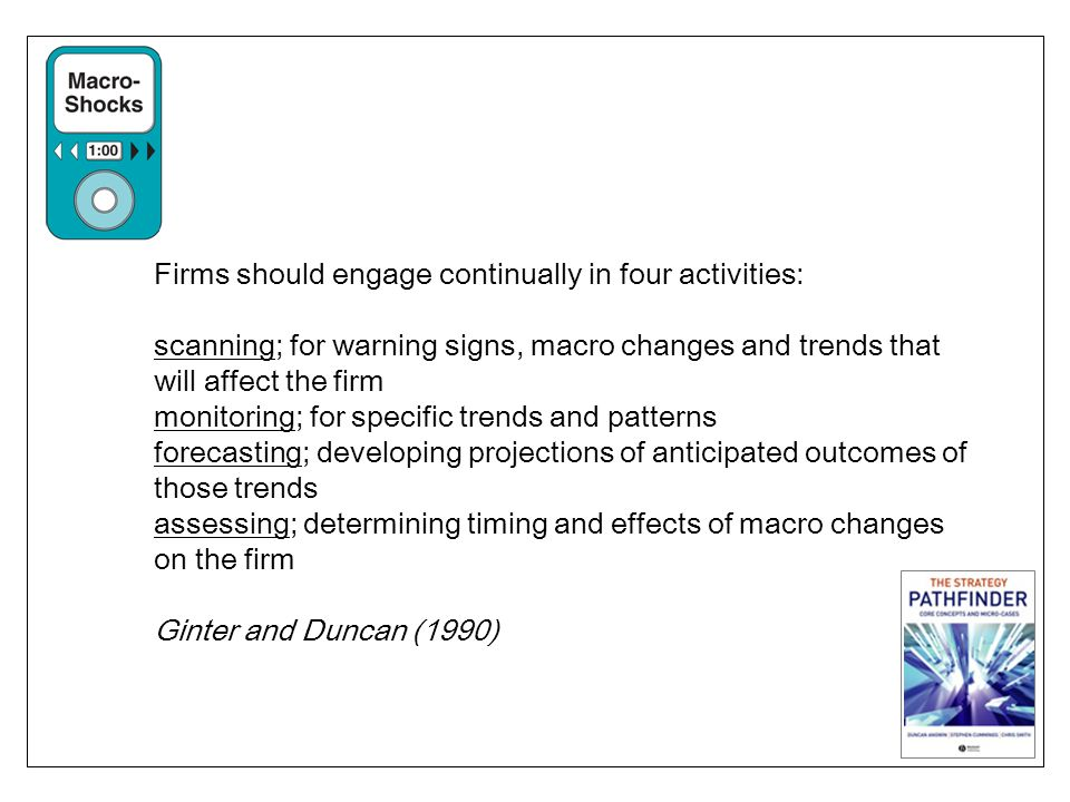 Firms should engage continually in four activities: