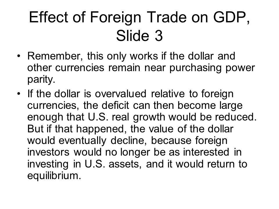 Effect of Foreign Trade on GDP, Slide 3