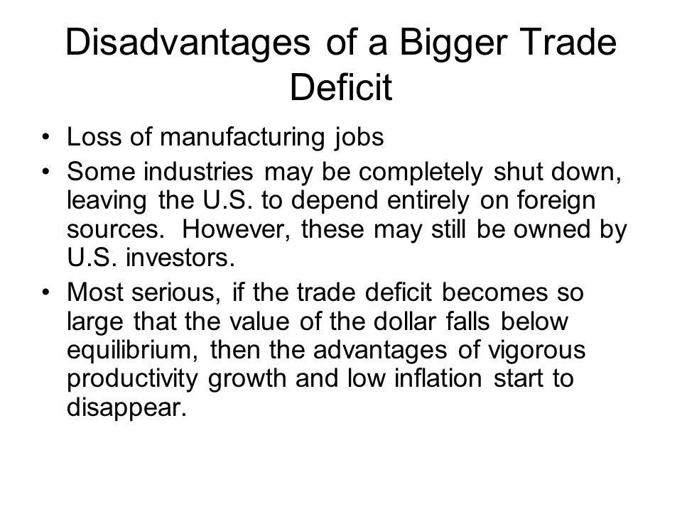 Disadvantages of a Bigger Trade Deficit