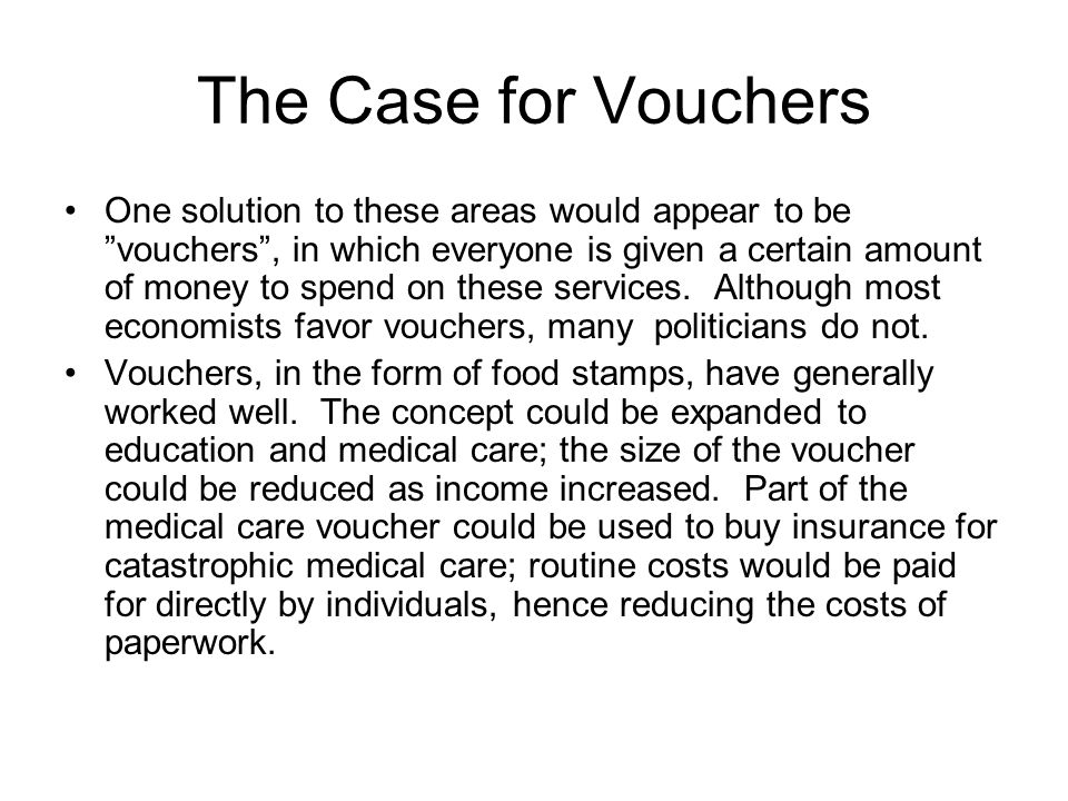 The Case for Vouchers