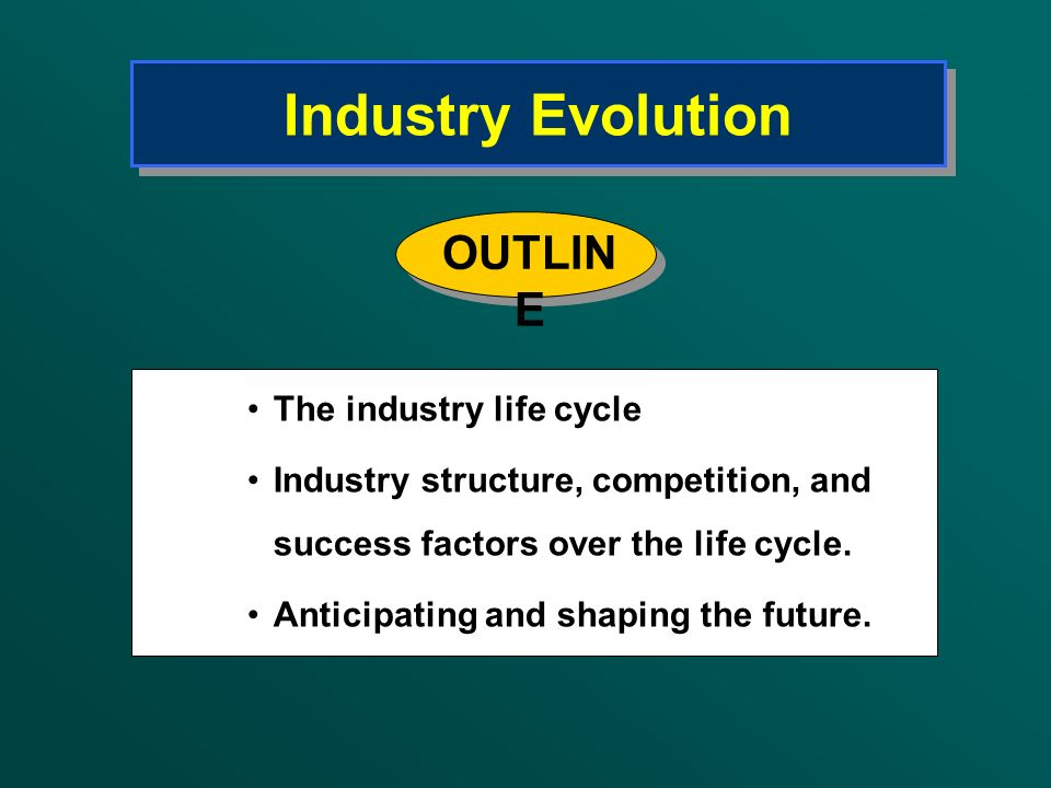 Industry Evolution OUTLINE The industry life cycle