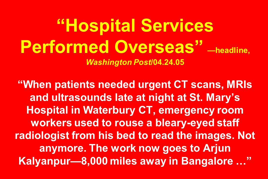 Hospital Services Performed Overseas —headline, Washington Post/04