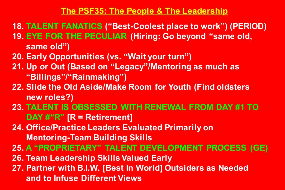 The PSF35: The People & The Leadership 18