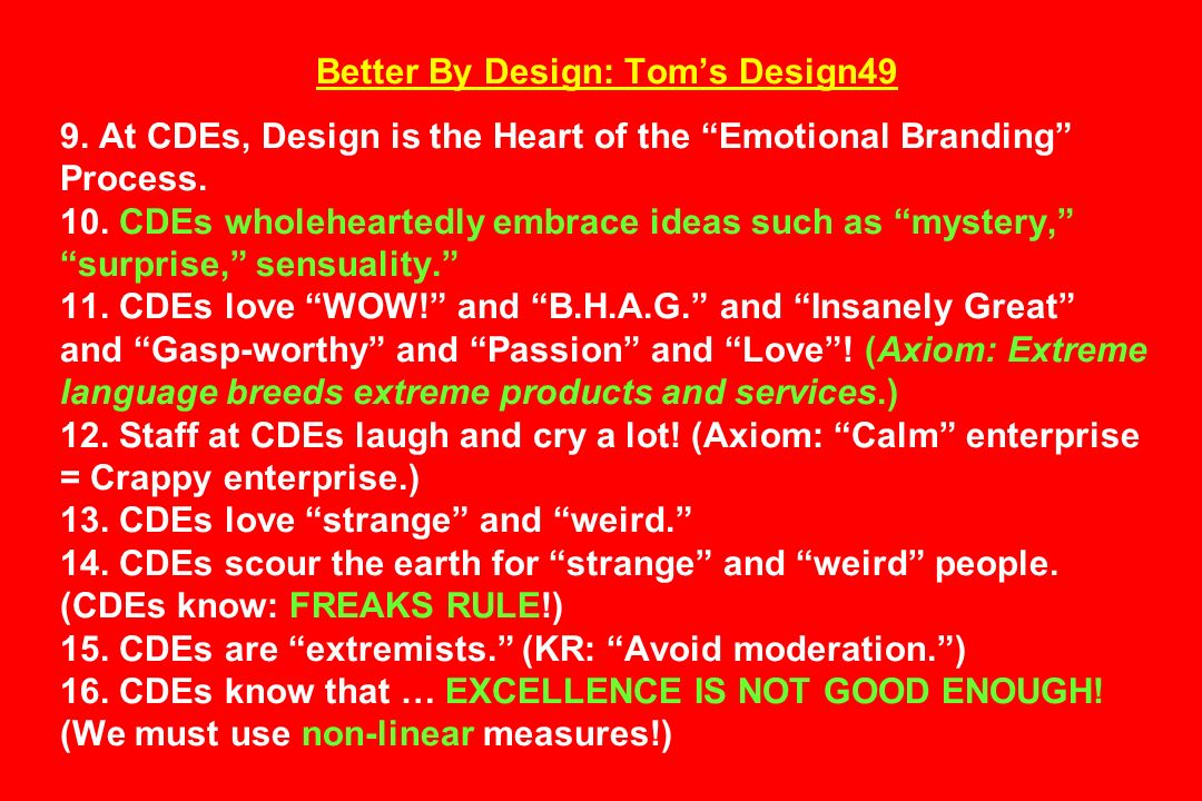 Better By Design: Tom's Design49 9
