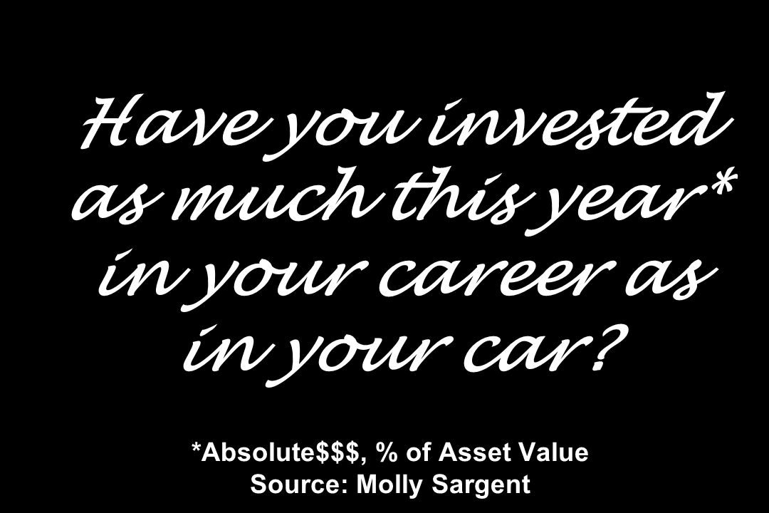 Have you invested as much this year. in your career as in your car