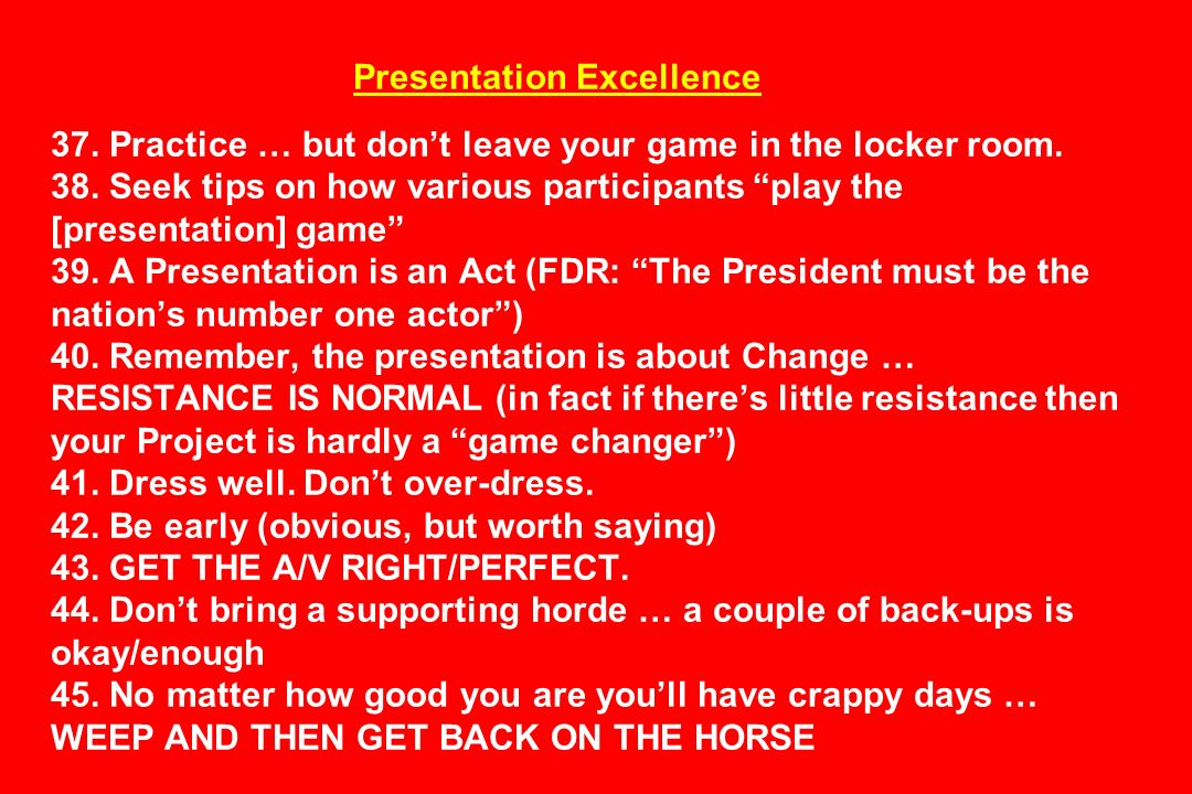 Presentation Excellence 37