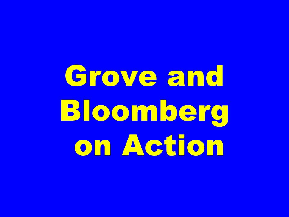 Grove and Bloomberg on Action