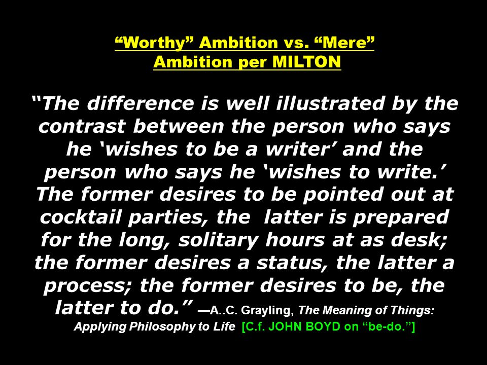 Worthy Ambition vs.