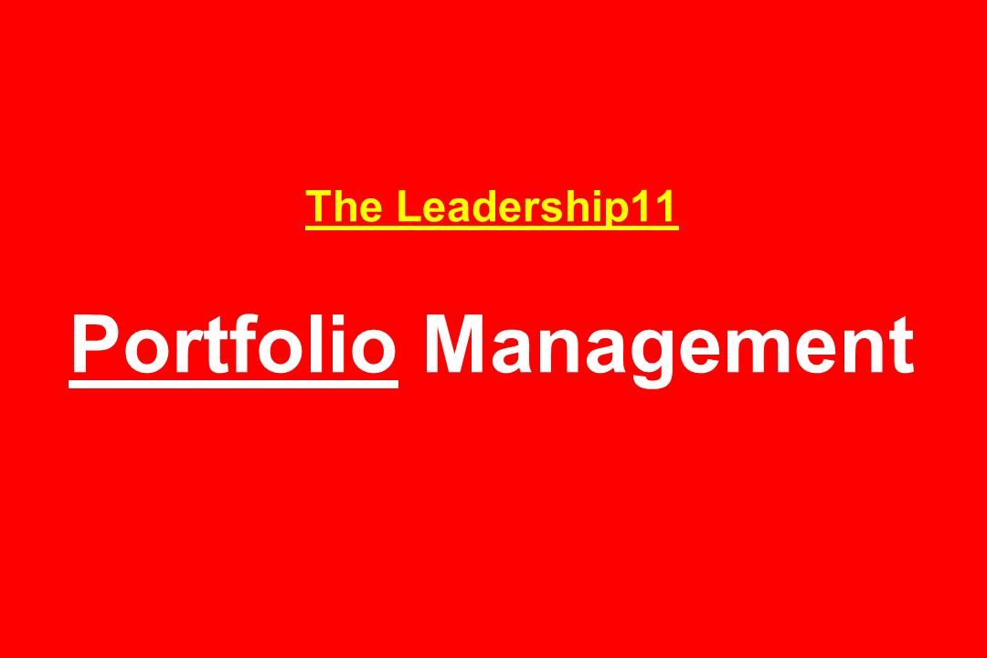 The Leadership11 Portfolio Management