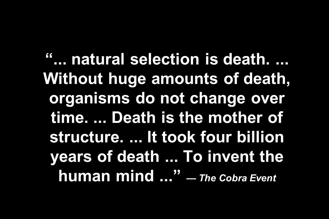 . natural selection is death