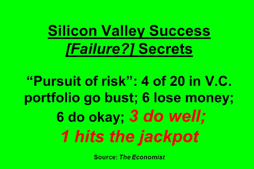 Silicon Valley Success [Failure