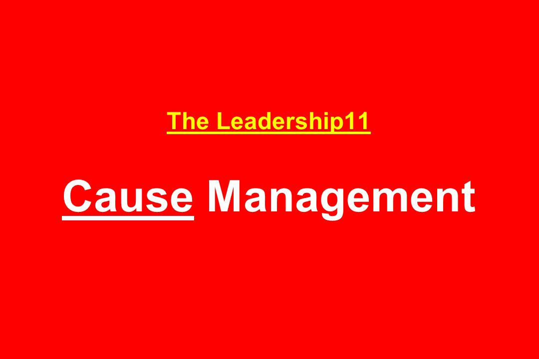 The Leadership11 Cause Management