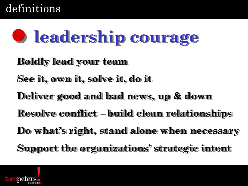 leadership courage definitions Boldly lead your team