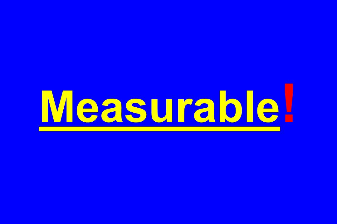Measurable!