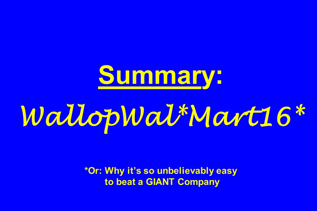 Summary: WallopWal. Mart16