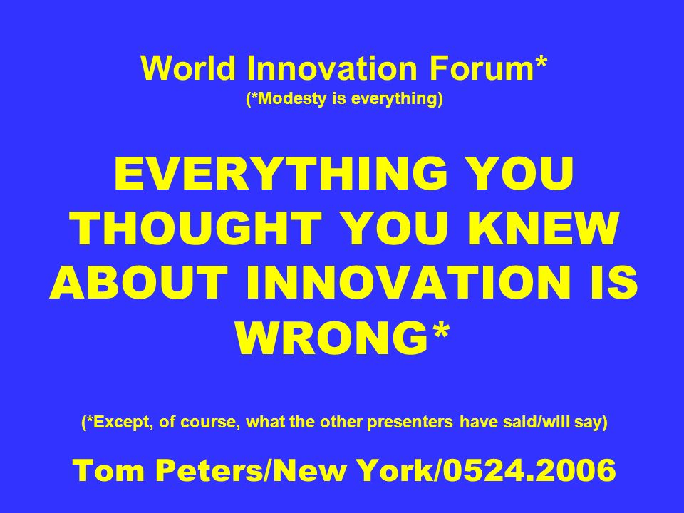 World Innovation Forum. (