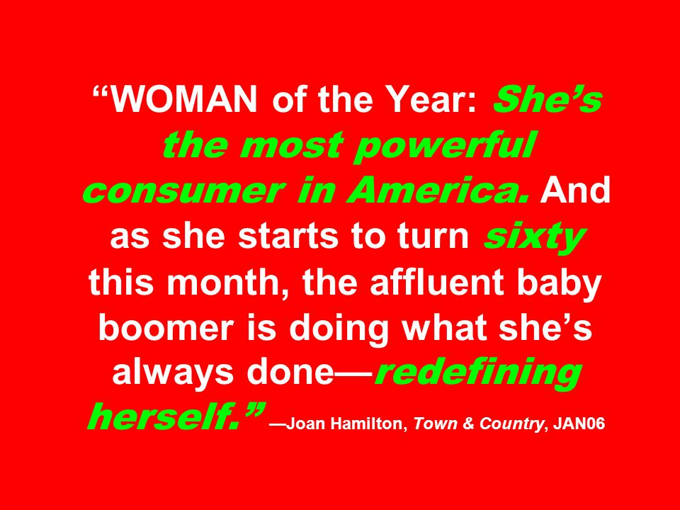 WOMAN of the Year: She's the most powerful consumer in America