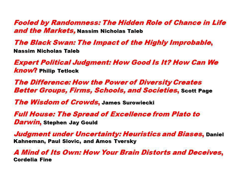 Fooled by Randomness: The Hidden Role of Chance in Life and the Markets, Nassim Nicholas Taleb