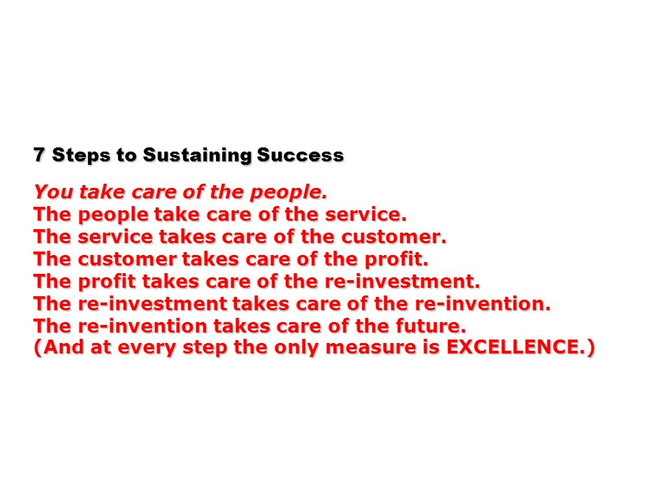 7 Steps to Sustaining Success