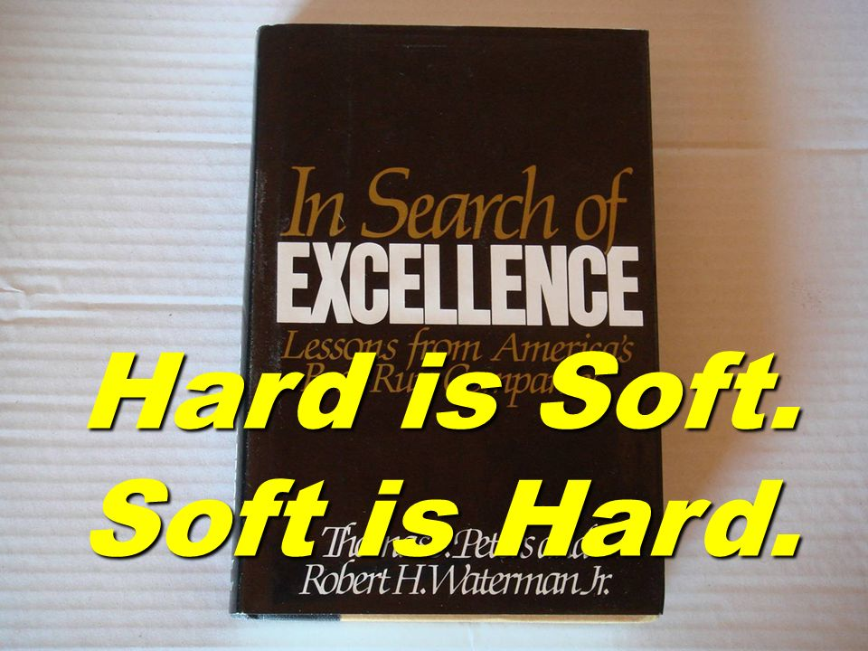 Hard is Soft. Soft is Hard.