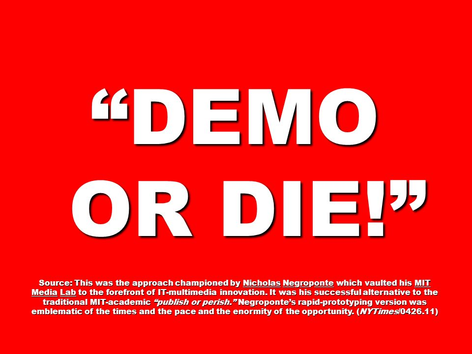 DEMO OR DIE!