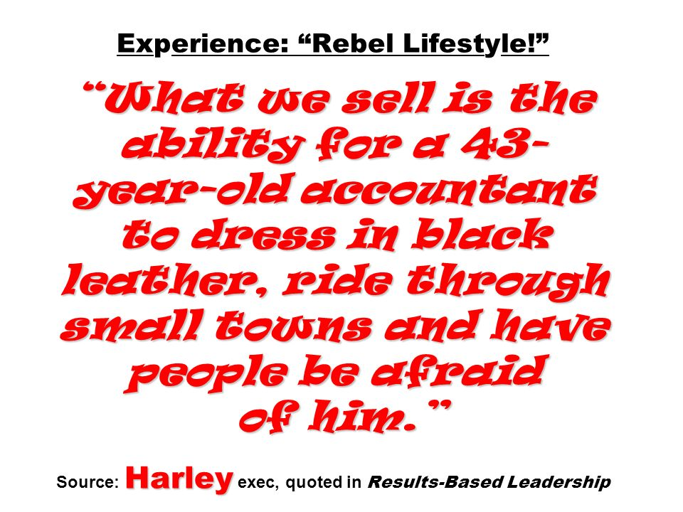 Experience: Rebel Lifestyle