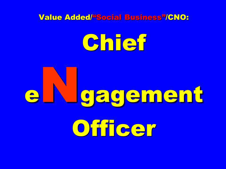 Value Added/ Social Business /CNO: Chief eNgagement Officer