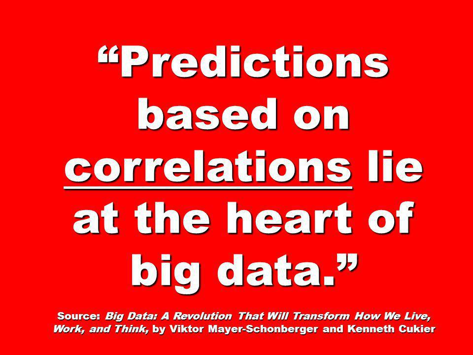 Predictions based on correlations lie at the heart of big data.