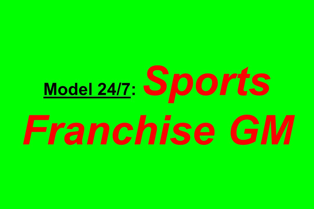 Model 24/7: Sports Franchise GM
