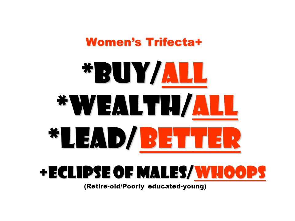Women's Trifecta+. Buy/all. Wealth/all